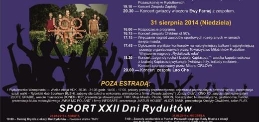 Plakat XXII Dni Rydułtów 2014