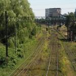 Widok z wiaduktu na tory