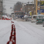 Ulica Raciborska zimą